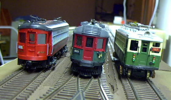 One of the Y switches and three models.